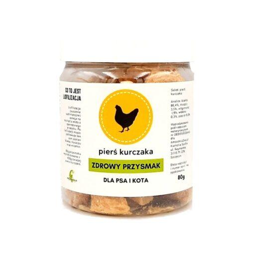 Zdrowy Przysmak pierś z kurczaka 80g liofilizowane mięso