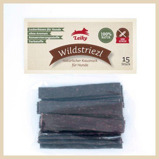 Leiky Wildstriezl mięsne paski dla psa. 98% dziczyzny suszonej powietrzem