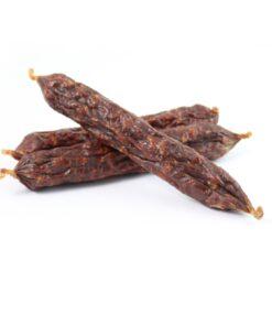 Leiky kiełbaski z indykiem i dziką różą 8 sztuk, 99% mięsa dla psa.