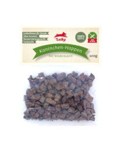 Leiky - Mięso królika z pokrzywą i mniszkiem lekarskim 100g dla psa.